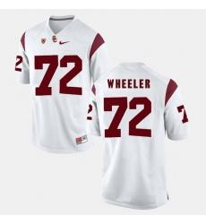 Men Usc Trojans Chad Wheeler Pac 12 Game White Jersey