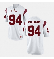 Men Usc Trojans Leonard Williams Pac 12 Game White Jersey