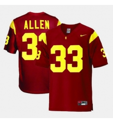 Men Usc Trojans Marcus Allen College Football Red Jersey