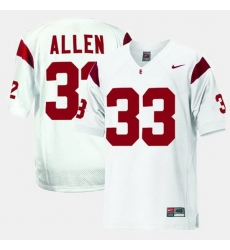 Men Usc Trojans Marcus Allen College Football White Jersey