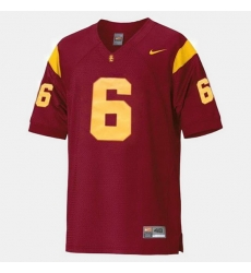 Men Usc Trojans Mark Sanchez College Football Red Jersey