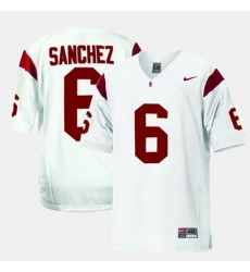 Men Usc Trojans Mark Sanchez College Football White Jersey