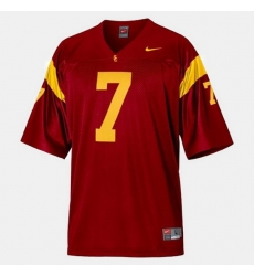 Men Usc Trojans Matt Barkley College Football Red Jersey
