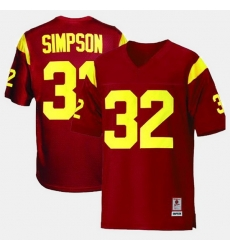 Men Usc Trojans O.J. Simpson College Football Red Jersey