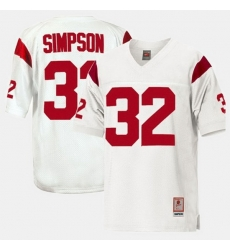 Men Usc Trojans O.J. Simpson College Football White Jersey