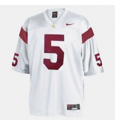 Men Usc Trojans Reggie Bush College Football White Jersey