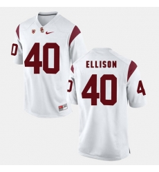 Men Usc Trojans Rhett Ellison Pac 12 Game White Jersey