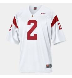 Men Usc Trojans Robert Woods College Football White Jersey