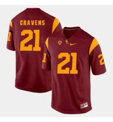 Men Usc Trojans Su'A Cravens Pac 12 Game Red Jersey