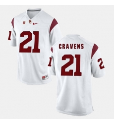 Men Usc Trojans Su'A Cravens Pac 12 Game White Jersey