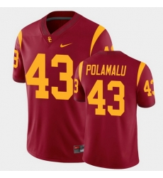 Men Usc Trojans Troy Polamalu College Football Cardinal Alumni Player Game Jersey