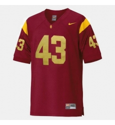 Men Usc Trojans Troy Polamalu College Football Red Jersey