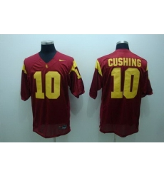 Trojans #10 Brian Cushing Red Embroidered NCAA Jersey