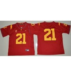 Trojans #21 Adoree 27 Jackson Red Limited Stitched NCAA Jersey