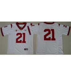 Trojans #21 Adoree 27 Jackson White PAC 12 C Patch Stitched NCAA Jersey
