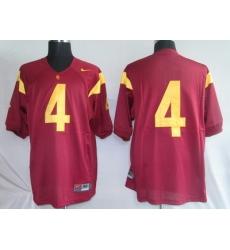 Trojans #4 Joe McKnight Red Embroidered NCAA Jersey