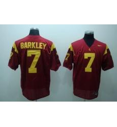 Trojans #7 Matt Barkley Red Embroidered NCAA Jersey