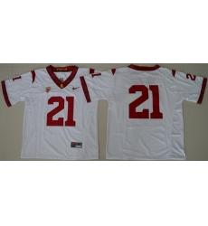 USC Trojans #21 White College Football Jersey