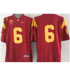USC Trojans #6 Red Limited Stitched NCAA Jersey