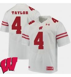 Men Wisconsin Badgers A.J. Taylor White Alumni Football Game Ncaa 2018 Jersey