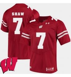 Men Wisconsin Badgers Bradrick Shaw Red Alumni Football Game Ncaa 2018 Jersey