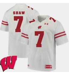 Men Wisconsin Badgers Bradrick Shaw White Alumni Football Game Ncaa 2018 Jersey