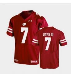 Men Wisconsin Badgers Danny Davis Iii Replica Red Football Jersey