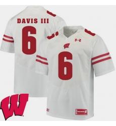 Men Wisconsin Badgers Danny Davis Iii White Alumni Football Game Ncaa 2018 Jersey