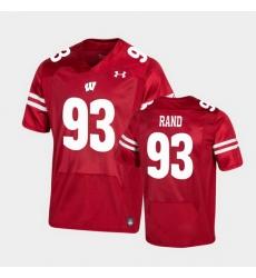 Men Wisconsin Badgers Garrett Rand Premier Red Football Jersey