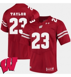 Men Wisconsin Badgers Jonathan Taylor Red Alumni Football Game Ncaa 2018 Jersey