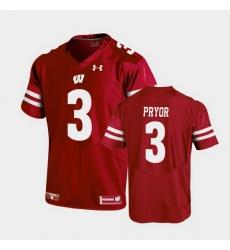 Men Wisconsin Badgers Kendric Pryor Replica Red Football Jersey