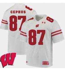 Men Wisconsin Badgers Quintez Cephus White Alumni Football Game Ncaa 2018 Jersey
