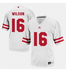 Men Wisconsin Badgers Russell Wilson College Football White Jersey