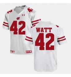 Men Wisconsin Badgers T.J Watt Alumni Football Game White Jersey