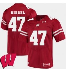 Men Wisconsin Badgers Vince Biegel Red Alumni Football Game Ncaa 2018 Jersey