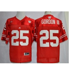 Wisconsin Badgers #25 Melvin Gordon III Red Big Ten Stitched NCAA Jersey