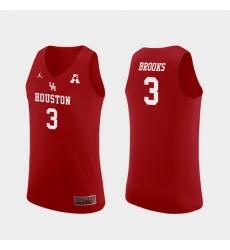 Men Houston Cougars Armoni Brooks Red Replica College Basketball Jersey