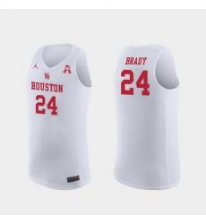 Men Houston Cougars Breaon Brady White Replica College Basketball Jersey