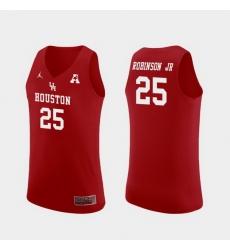 Men Houston Cougars Galen Robinson Jr. Red Replica College Basketball Jersey