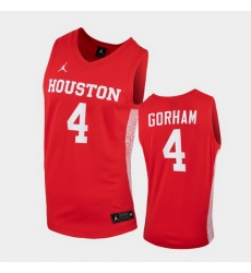 Men Houston Cougars Justin Gorham Replica Red College Basketball Jersey
