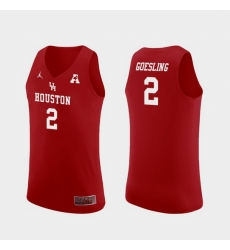 Men Houston Cougars Landon Goesling Red Replica College Basketball Jersey