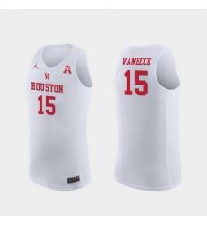 Men Houston Cougars Neil Vanbeck White Replica College Basketball Jersey