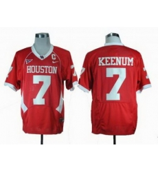 NCAA Houston Cougars Case Keenum 7 Red C-USA Patch College Football Jersey