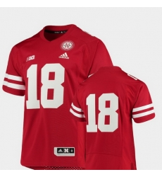 Men Nebraska Cornhuskers 18 Scarlet College Football Premier Jersey