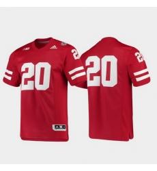 Men Nebraska Cornhuskers 20 Scarlet Premier Football Jersey