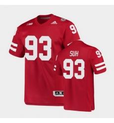 Men Nebraska Cornhuskers Ndamukong Suh College Football Scarlet Premier Jersey