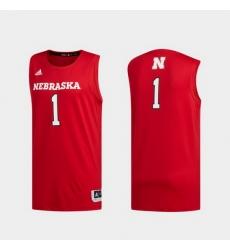 Men Nebraska Cornhuskers Scarlet Swingman Basketball Jersey