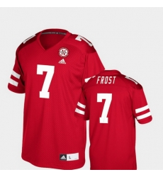 Men Nebraska Cornhuskers Scott Frost 7 Red College Football Player Jersey