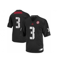 Nebraska Cornhuskers 3 Taylor Martinez Black College Football NCAA Jersey