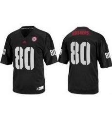 Nebraska Cornhuskers 80 Kenny Bell Black College Football NCAA Jersey